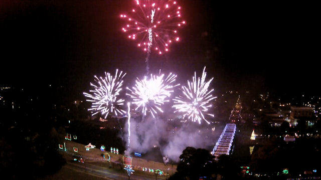 Turn on the Holidays celebration and fireworks display